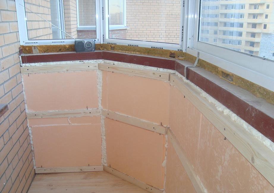 """Утепление балконов и лоджий """"окна клин""""."""